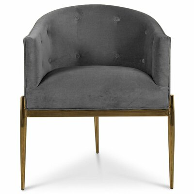 Art Deco Upholstered Dining Chair Upholstery: Dark Gray