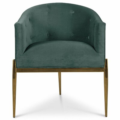 Art Deco Upholstered Dining Chair Upholstery Color: Hunter Green