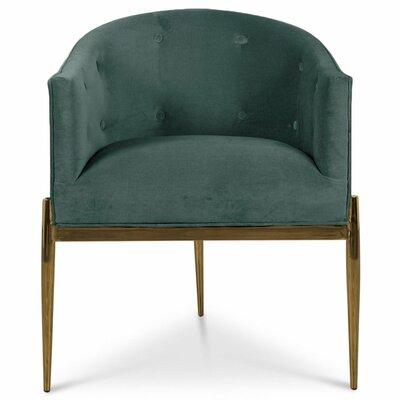 Art Deco Upholstered Dining Chair Upholstery: Hunter Green