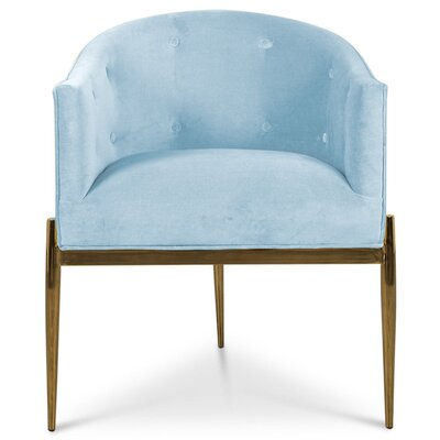 Art Deco Upholstered Dining Chair Upholstery Color: Capri Blue