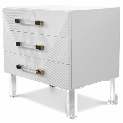 Milan End Table Table Top Color: White