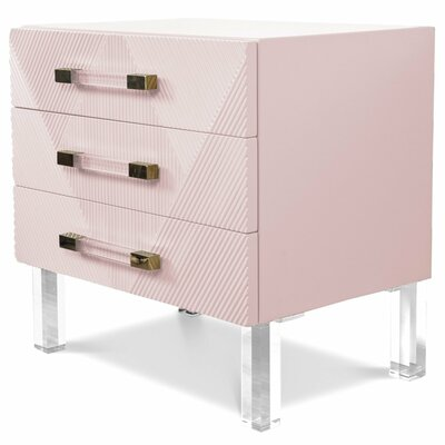 Milan End Table Table Top Color: blush pink