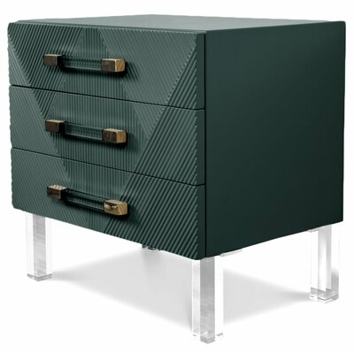 Milan End Table Table Top Color: Hunter Green