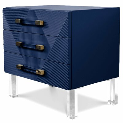 Milan End Table Table Top Color: Indigo Blue