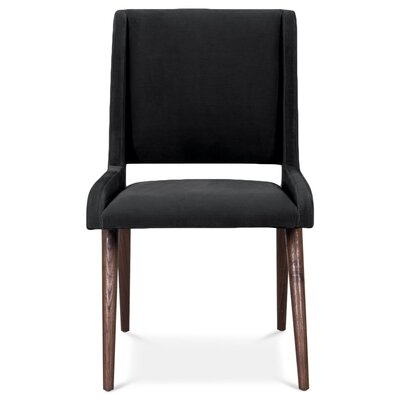 Mid Century Upholstered Dining Chair Upholstery: Black
