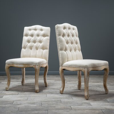 Callie Side Chair Upholstery: Beige