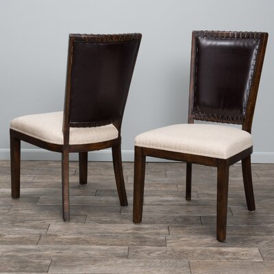 Americana Genuine Leather Upholstered Dining Chair