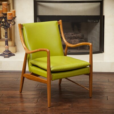 Rosette Arm Chair Color: Green