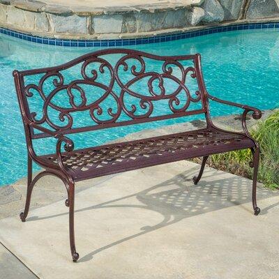 Home Loft Concept McKinley Cast Aluminum Garden Bench