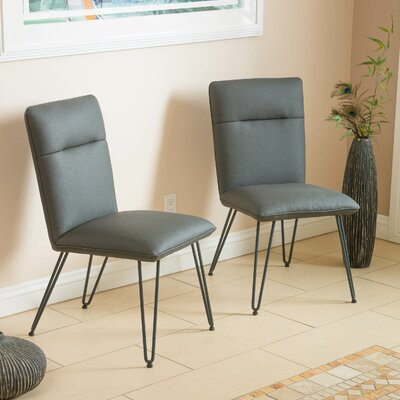 Vellore Side Chair Upholstery: Grey