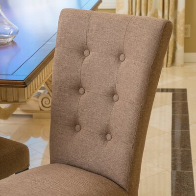 Arlington Dining Chair Upholstery: Brown