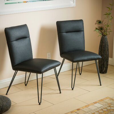 Vellore Side Chair Upholstery: Black
