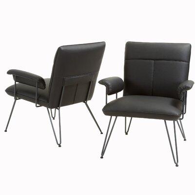 Lewisvielle Armchair Upholstery: Black / Black