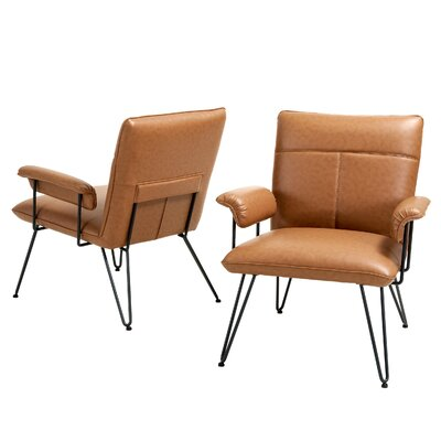 Lewisvielle Arm Chair Upholstery: Tan / Black