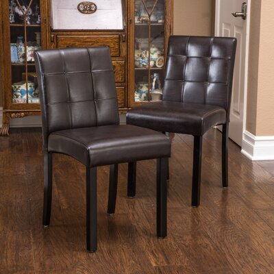 Harkin Genuine Leather Upholstered Dining Chair