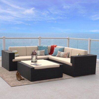 Ventura 4 Piece Lounge Seating Group with Cushions