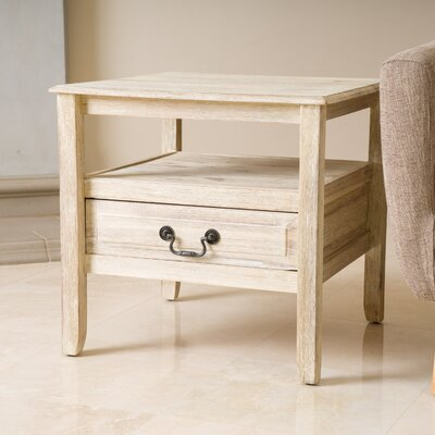 Rodgers End Table Color: Brushed Morning Mist