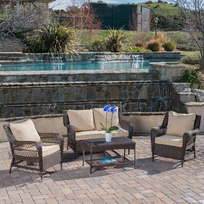 Palermo 4 Piece Seating Group with Cushions