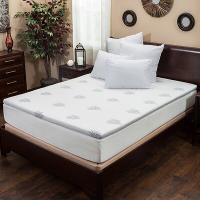 Gel Memory Foam Mattress Topper Size: King