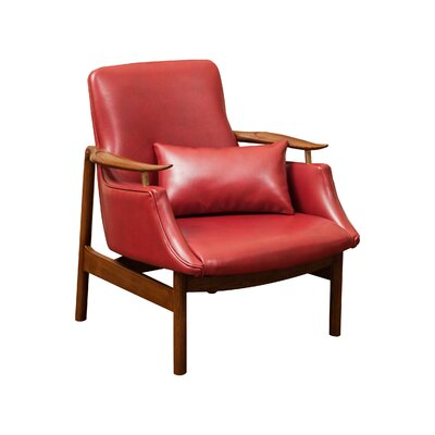 Viennes Armchair Color: Red