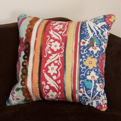 Rafael Embroidered Cotton Throw Pillow