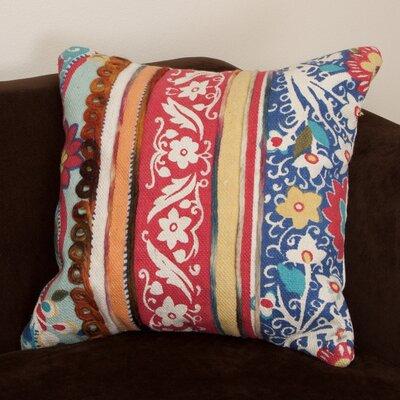 Rafael Embroidered Cotton Throw Pillow