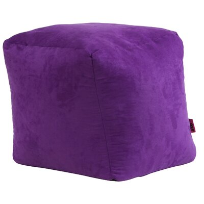 Whitney Bean Bag Cube Ottoman Upholstery: Purple