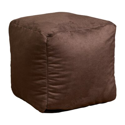 Whitney Bean Bag Cube Ottoman Upholstery: Brown LEPF1033 18175735
