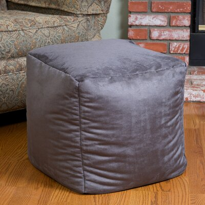 Whitney Bean Bag Cube Ottoman Upholstery: Grey