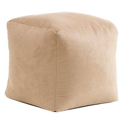Whitney Bean Bag Cube Ottoman Upholstery: Tan