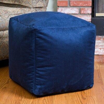 Whitney Bean Bag Cube Ottoman Upholstery: Blue