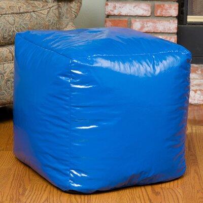 Parker Bean Bag Cube Ottoman Upholstery: Blue