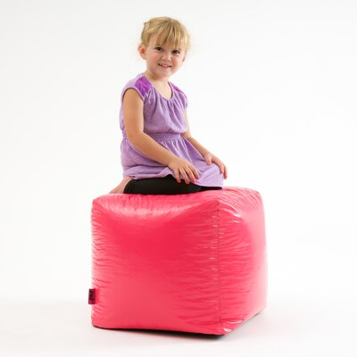 Parker Bean Bag Cube Ottoman Upholstery: Pink
