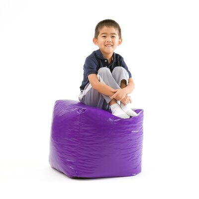 Parker Pouf Upholstery: Purple