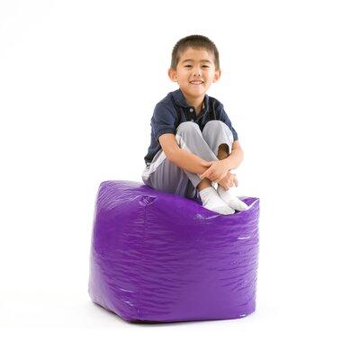 Parker Bean Bag Cube Ottoman Upholstery: Purple