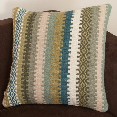 Wool Stripe Throw Pillow Color: Padma Green