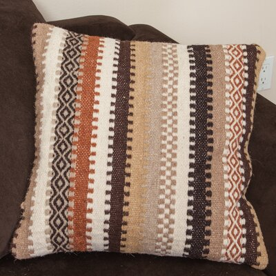 Wool Stripe Throw Pillow Color: Abbott Beige