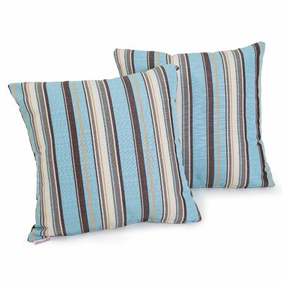 Carnegie Celeste Striped Sunbrella Throw Pillow