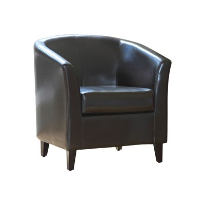 Monvia Barrel Chair Upholstery: Brown