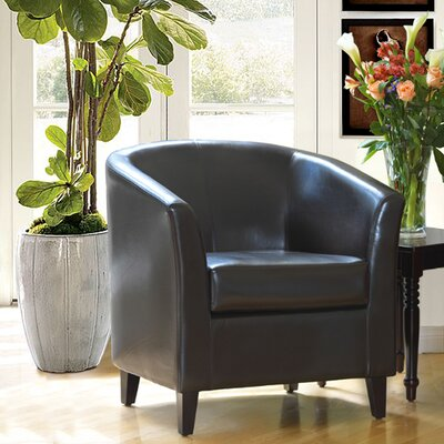 Baltes Barrel Chair Upholstery: Brown