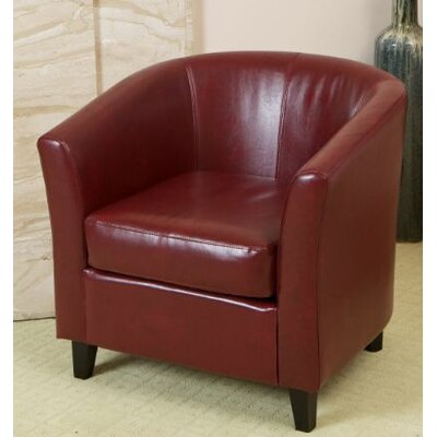 Baltes Barrel Chair Upholstery: Burgundy