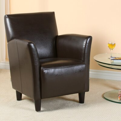 Lawson Armchair Color: Brown