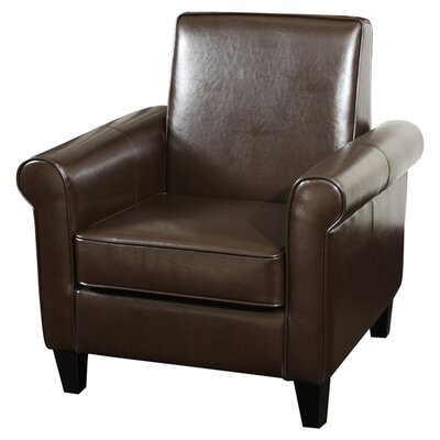 Brooks Club Chair Upholstery: Chocolate Brown