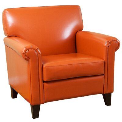 Bonded Leather Chair Upholstery: Burnt Orange