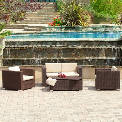 Ostro 4 Piece Deep Seating Group with Cushions
