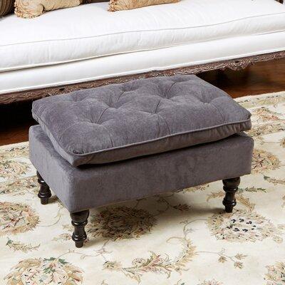 Cameron Tufted Ottoman Upholstery: Charcoal Grey