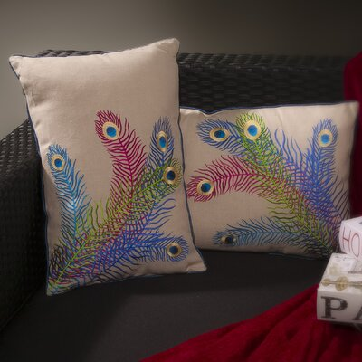 Opulence Peacock Throw Pillow