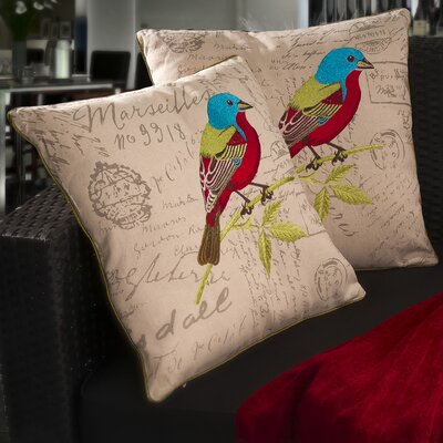 Heavens 18 Embroidered Bird Pillows
