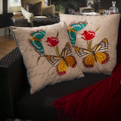 Charlotte 18 Embroidered Butterfly Pillows