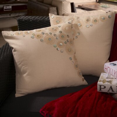 Andrea Embroidered Paillette Throw Pillow